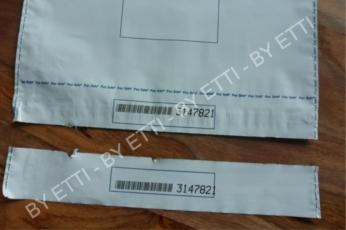 Buste di sicurezza monouso numerate con coupon 350x460+70mm confezione da 1000 pezzi per € 0,26 cad.
