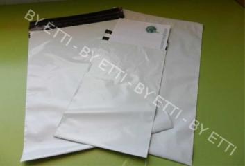 Buste di sicurezza monouso adesive misure  325x425mm+50mm confezione da 1000 pezzi per € 0,23 cad.